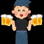 居酒屋ビール運ぶ女の子
